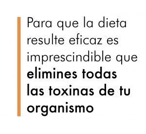 Para que la dieta resulte eficaz y recuperes tu figura debes antes eliminar todas las toxinas de tu cuerpo.