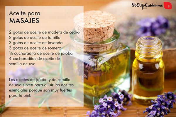 Aceites recomendados para la rutina de masaje del cabello