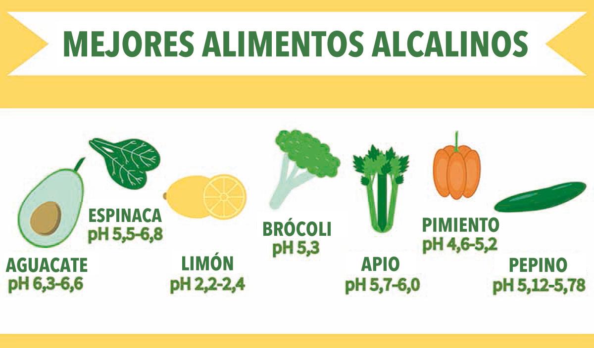 Alimentos alcalinos que ayudan a alcalinizar la sangre