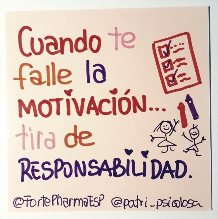 Cuando te falle la motivación, tira de responsabilidad