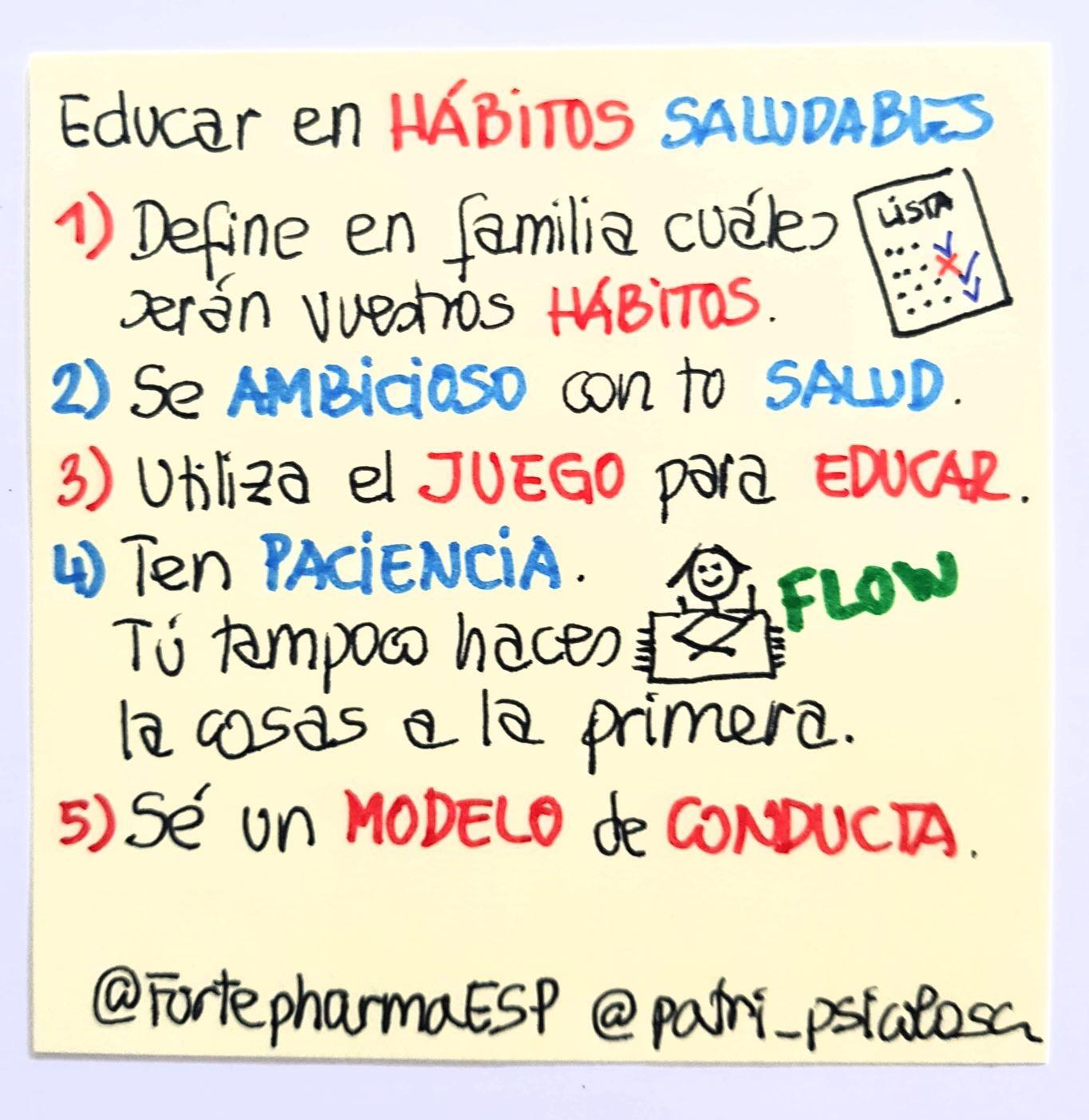 Educar en hábitos saludables