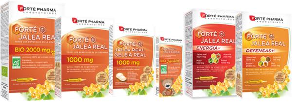 Productos con Jalea Real de Forté Pharma